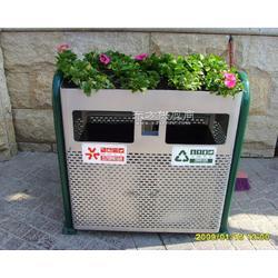 供应市政高档木塑垃圾桶颜色,尺寸,形状可订做图片