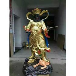 绵阳四大天王,神佛铜像厂家,黄铜四大天王护法雕塑图片