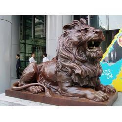 厂家直订(图)、开业庆典狮子雕塑制作、广州狮子雕塑图片