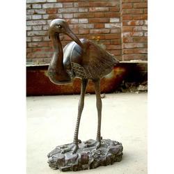 铜鹤工艺品摆件|宝鸡铜鹤|天顺雕塑图片