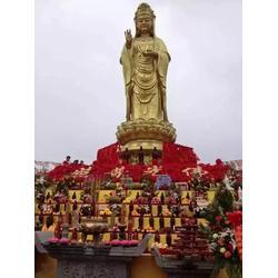 贴金彩绘观音菩萨铜像,铜川观音菩萨,天顺雕塑(查看)图片
