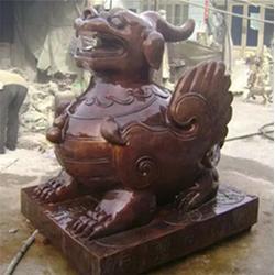 天津貔貅雕塑|定制有礼|纳财铜貔貅雕塑图片