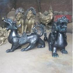湖北貔貅雕塑_定制有礼_纯铜貔貅雕塑制造图片