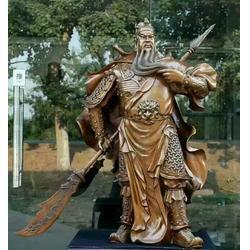 榆林关公佛像|信誉厂家(在线咨询)|黄铜贴金关公佛像制作图片