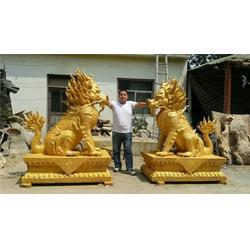 风水用品(图)、华夏麒麟雕塑摆件制作、马鞍山麒麟图片
