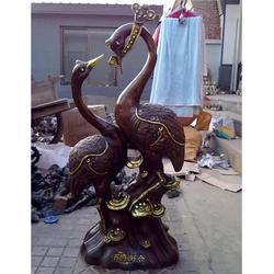 专业制作(图)|铜鹤雕塑蜡台摆件|遵义市铜鹤雕塑图片