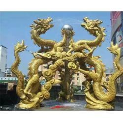 专业制作、新竹铜龙雕塑、铜龙雕塑厂家图片