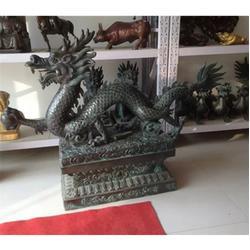 台中铜龙雕塑_专业制作_喷水铜龙雕塑图片