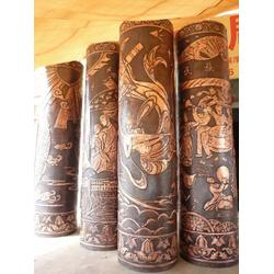 九江铜柱子、厂家直订、刻字铜柱子制造图片