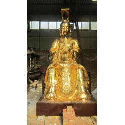 新疆铜神像、天顺雕塑、玉皇大帝铜神像图片