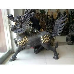 杭州铜麒麟_天顺雕塑_风水铜麒麟雕塑摆放