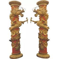 雕刻字画铜柱子雕塑-柱子雕塑-天顺雕塑图片