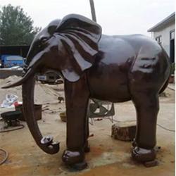 铜雕大象摆件|铁岭铜大象|各种动物雕塑制作图片