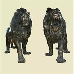 雕塑厂家、天门狮子雕塑、汇丰狮子雕塑制造图片