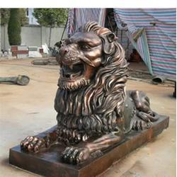 绍兴铜狮子 天顺雕塑 不锈钢铜狮子制作图片