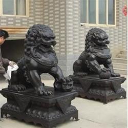 天顺雕塑|舟山铜狮子|不锈钢铜狮子制作图片