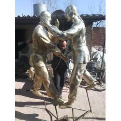 广场现代人物雕塑|福光雕塑|山西广场人物雕塑图片