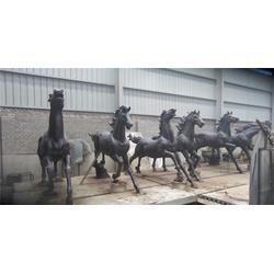 广场长颈鹿铜雕塑,福光雕塑,河南长颈鹿铜雕塑图片