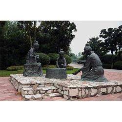 广场玻璃钢仿铜雕塑-河北玻璃钢仿铜雕塑-艺铭雕塑