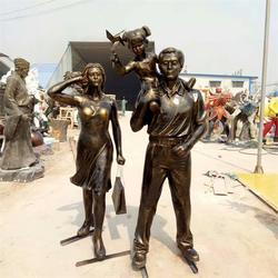 一家三口雕塑定制公司、艺铭雕塑(在线咨询)、河北一家三口雕塑图片