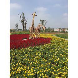 长颈鹿雕塑,西藏长颈鹿雕塑,艺铭雕塑图片