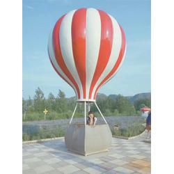 玻璃钢热气球雕塑厂家、艺铭雕塑、福建玻璃钢热气球雕塑图片