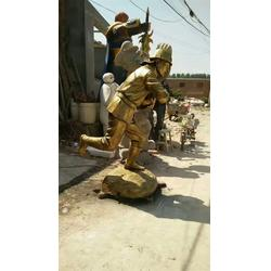 消防員消防主題雕塑廠家-陜西消防員雕塑-藝銘雕塑