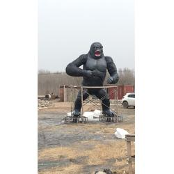 北京大猩猩雕塑-藝銘雕塑-不銹鋼大猩猩雕塑圖片