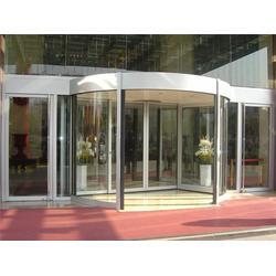 办公楼旋转门生产厂家、泉盛门业、乌兰察布办公楼旋转门图片