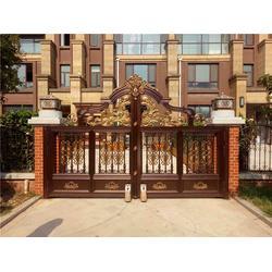 铝艺门和护栏_南阳铝艺门和护栏_泉盛门业图片