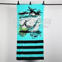 新款割绒沙滩巾厂家 纯棉活性印花沙滩浴巾 外贸出口品质图片