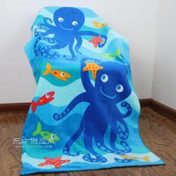新品纯棉割绒印花沙滩巾生产厂家活性无污染印花沙滩巾图片