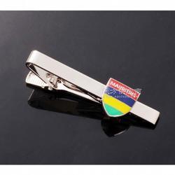 高档贴纸领带夹,时尚男士领带配饰,金属简约领夹logo定制图片