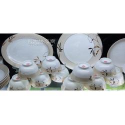 专业生产陶瓷碗碟子盘子汤盆餐具套装厂家直销青花餐具定制加工彩花骨瓷餐具图片