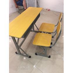 课桌椅厂家学生课桌培训钢木桌椅图片