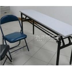 快餐长条桌厂家直销折叠桌简单培训桌图片