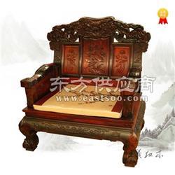 雍容大气神采绝卓大红酸枝沙发老师傅精心雕刻图片