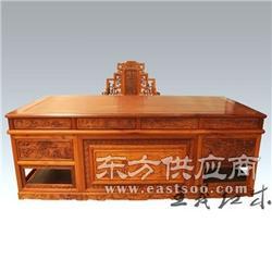 花鸟雕刻缅甸花梨办公桌 大师之手 独具匠心图片