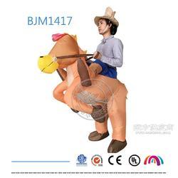 厂家定制万圣节化装舞会道具 成人款西部牛仔充气服装 骑马衣图片