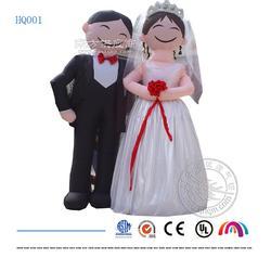 西方白色婚礼新郎新年卡通模型丨婚庆充气固定卡通图片