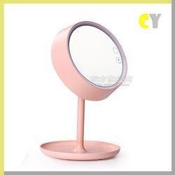 创意化妆镜LED护眼台灯 卧室?#39184;?#20805;电LED台灯 韩版便携式炫彩台灯图片