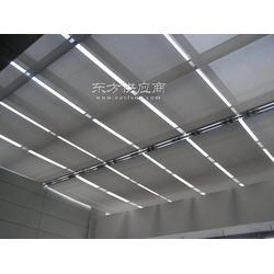 厂家定做采光顶遮阳天棚 双轨折叠天棚帘 电动遮阳天棚图片