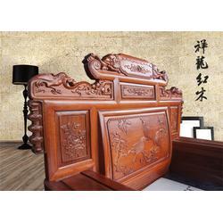 兰溪红木床-祥龙红木-款式精美-红木床厂家图片