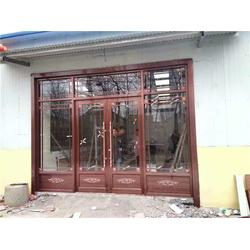 铜门定做|山东仿铜拉丝门厂家|国强铝塑门窗厂质量好图片
