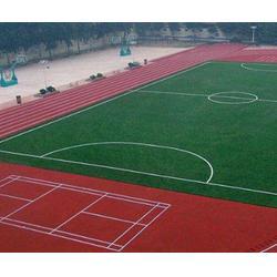 学校塑胶跑道施工工艺|奥鑫双丰体育设施|塑胶跑道施工图片
