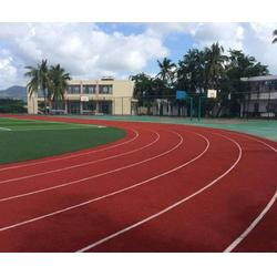 学校塑胶跑道翻新|奥鑫双丰体育设施|塑胶跑道翻新图片