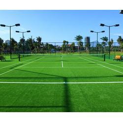 体育公园网球场施工组织设计_奥鑫双丰塑胶跑道_网球场施工图片