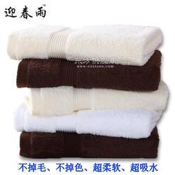 纯棉白色浴巾厂家 迎春雨宾馆酒店毛巾浴巾美容院加大加厚毛巾图片