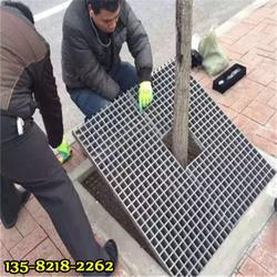玻璃钢树穴网格优点,道路建设树盖板供应商图片