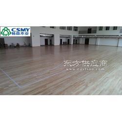 安装篮球馆运动木地板天然无公害图片